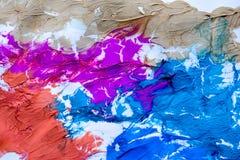 Mångfärgad abstrakt textur med fläckar, utrymme för text eller bild Royaltyfria Bilder