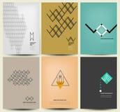 Mångfärgad bakgrundsuppsättning för abstrakt idérikt begrepp, för broschyrdesign royaltyfri illustrationer