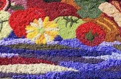 Mångfärgad blom- matta Royaltyfri Bild