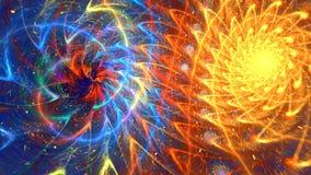 Mångfärgad dubbel spiral arkivfilmer