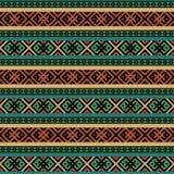 Mångfärgad etnisk sömlös bakgrund royaltyfri illustrationer