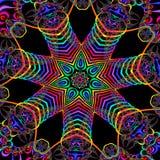 Mångfärgad fractalbild Arkivbild