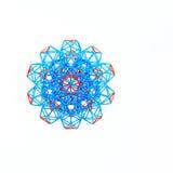 Mångfärgad handgjord dimensionell modell Of Geometric Solid royaltyfria foton