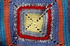 Mångfärgad handgjord tygmodell, härlig abstrakt bakgrund Arkivfoton
