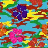 Mångfärgad hibiskus Arkivbilder