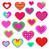 mångfärgad hjärta Royaltyfri Fotografi