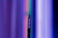 Mångfärgad injektionsspruta Royaltyfria Foton