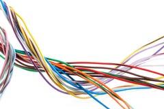 Mångfärgad kabel arkivbild