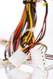 mångfärgad kabeldator Arkivfoto