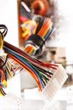 mångfärgad kabeldator Royaltyfria Foton