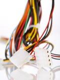 mångfärgad kabeldator Arkivfoton