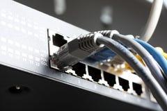 mångfärgad kabeldator Royaltyfria Bilder