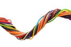 mångfärgad kabeldator Royaltyfri Fotografi