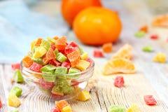 Mångfärgad kanderad frukt royaltyfri fotografi