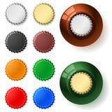 mångfärgad kapsyl Arkivfoton
