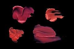 Mångfärgad läppstiftfläck Arkivbilder