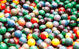 mångfärgad paintball för bollkula Arkivfoto