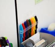 Mångfärgad penna Royaltyfria Foton