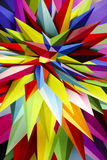 Mångfärgad plast- bakgrund med geometriska linjer retro illum Arkivbilder