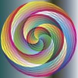 mångfärgad regnbåge för cirkel Arkivbild