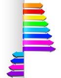 mångfärgad set för pilar Arkivbild