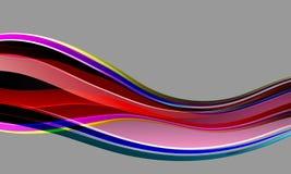 Mångfärgad skuggad krabb bakgrund för abstrakt vektor med belysningeffekt som är slät, kurva, vektorillustration stock illustrationer