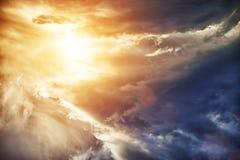 Mångfärgad sky Royaltyfria Bilder