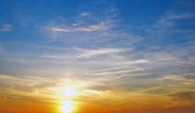 Mångfärgad sky Arkivfoton