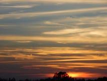 Mångfärgad solnedgång Arkivbild