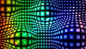 Mångfärgad texturerad bakgrund för abstrakt vektor med belysningeffekt, vektorillustration royaltyfri illustrationer