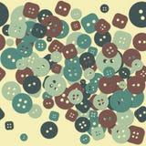 Mångfärgad torkdukeknappmodell Arkivbild