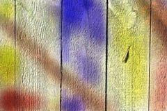 Mångfärgad träbakgrund för abstrakt tappning Arkivbild