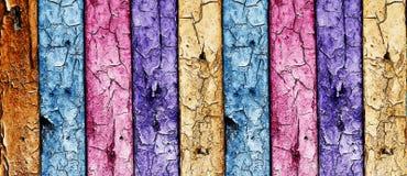 mångfärgad trätappningvägg Royaltyfri Bild