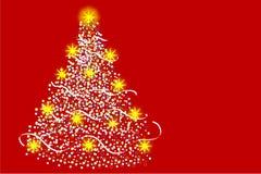 mångfärgad tree för jul Arkivbilder