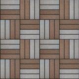 Mångfärgad trottoar av rektanglar som ut läggas på Arkivfoton