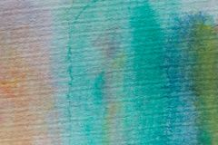 Mångfärgad vattenfärgtextur och bakgrund Abstrakt akryl målad bakgrund för design Arkivbilder
