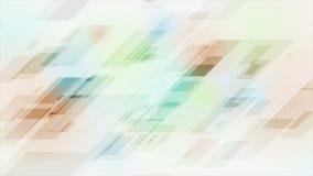 Mångfärgad video animering för abstrakt teknologi arkivfilmer