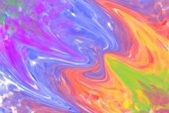 Mångfärgad virvlande runt bakgrund stock illustrationer