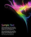 mångfärgad wave för abstrakt design Royaltyfria Bilder