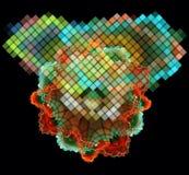 Mångfärgade abstrakt begreppdiagram Arkivfoton