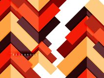 Mångfärgade abstrakta geometriska former, geometribakgrund för rengöringsdukbaner Arkivbild