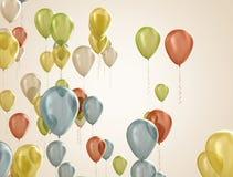 Mångfärgade ballonger Arkivfoto