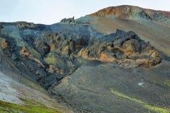 Mångfärgade berg på Landmannalaugar, Royaltyfria Foton