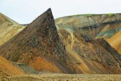 Mångfärgade berg på Landmannalaugar, Royaltyfri Fotografi