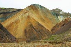 Mångfärgade berg på Landmannalaugar, Fotografering för Bildbyråer
