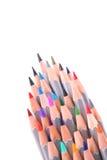 mångfärgade blyertspennor Royaltyfri Fotografi