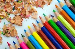 Mångfärgade blyertspennor Royaltyfria Foton