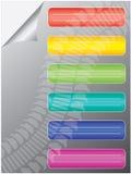 mångfärgade etiketter stock illustrationer