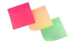 mångfärgade etiketter Arkivfoto