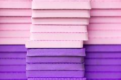 Mångfärgade EVA Foam pusselmats staplade fotografering för bildbyråer
